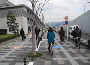 自転車歩行者道【部分通行指定、物理的分離】