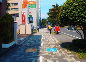 自転車歩行者道【共存、視覚的分離】